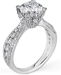 Michael M. Triple Row Diamond Engagement Ring