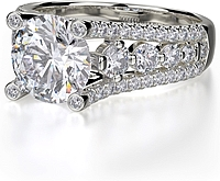 Michael M. Triple Row Graduated Diamond Engagement Ring