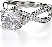 Michael M. Twist Shank Diamond Engagement Ring