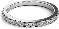 Nouveau Pave Diamond Wedding Band