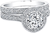Pave Diamond Halo Setting
