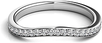 Pave Fitted Diamond Wedding Band