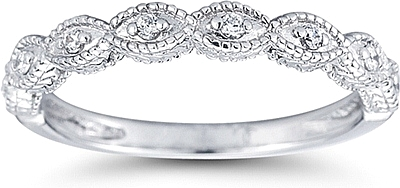 Pave Marquise Design Diamond Wedding Ring US3030B