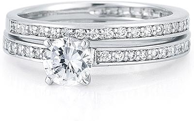 Petite Pave Diamond Wedding Ring US3000B
