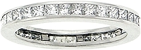 Platinum 1 1/4 ct. Channel-Set Princess Cut Diamond Band