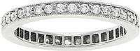 Platinum 1/2 ct. Diamond Pave Band