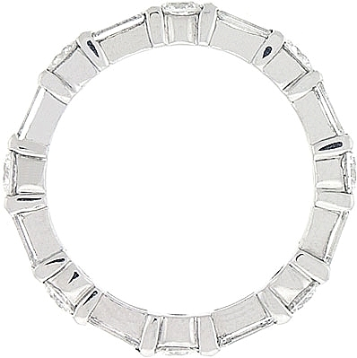 baguette platinum wedding eternity heidi bands gibson band