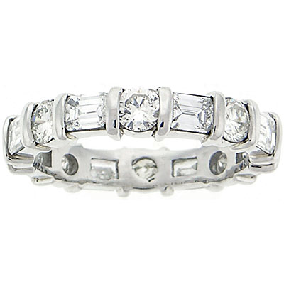 diamond platinum band half eternity set collection bands cut raphael baguette ring rings fancy