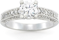 Platinum Diamond Pave Setting by Simon G .48ct tw
