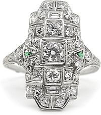 Platinum Diamond Vintage Ring