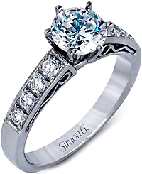 Platinum Pave Diamond Setting by Simon G .31ct tw