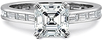 Precision Set Flush Fit Baguette Diamond Engagement Ring