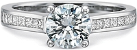 Precision Set Flush Fit Diamond Engagement Ring
