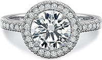 Precision Set Flush Fit Prong Set Diamond Engagement Ring