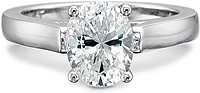 Precision Set Flush Fit Solitaire Diamond Engagement Ring