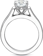 This image shows the setting with a 2.00ct oval cut center diamond. The setting can be ordered to accommodate any shape/size diamond listed in the setting details section below.
