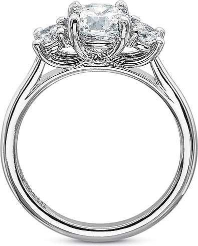 fc0aba23090c0 Precision Set Three Stone Diamond Engagement Ring Setting