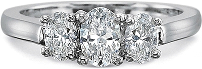 This image shows the setting with a .50ct oval cut center diamond. The setting can be ordered to accommodate any shape/size diamond listed in the setting details section below.