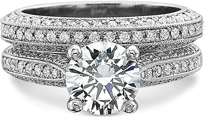 This Image Shows The Setting With A 100ct Round Brilliant Cut Center Diamond