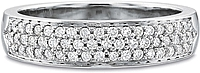 Precision Set Triple Row Diamond Wedding Band