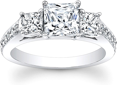 this c diamond setting engagement the center a pave ring shape with image cut rings princess shows