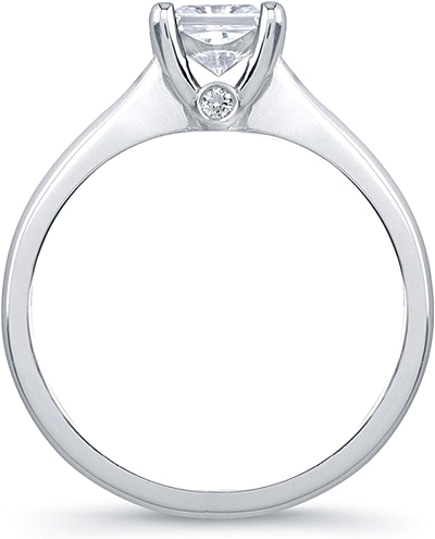 Princess Cut Solitaire Engagement Ring With Surprise