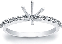 Prong-Set Diamond Engagement Ring