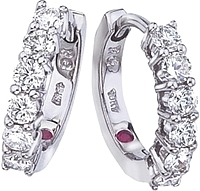Robert Coin Diamond Hoop Earrings-.70ctw