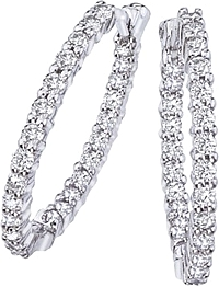 Roberto Coin Diamond Hoop Earrings- 1.00ctw