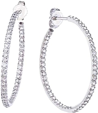Roberto Coin Diamond Hoop Earrings- .98ctw