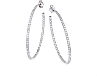 Roberto Coin Diamond Hoop Earrings-1.40ctw