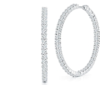 Roberto Coin Diamond Hoop Earrings-3.46ctw