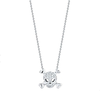 Roberto Coin Diamond Skull & Crossbones Necklace