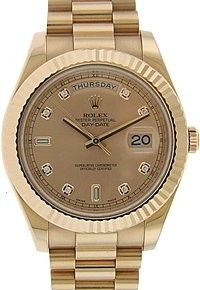 Rolex 18k Rose Gold Day-Date II 41mm
