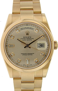 Rolex 18k Rose Gold Day-Date President with Diamond Dial