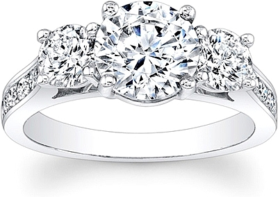 This Image Shows The Setting With A 1 50ct Round Brilliant Cut Center Diamond