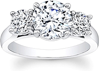 Round Brilliant Cut 3-Stone Diamond Engagement Ring