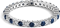 Sapphire & Diamond Round Brilliant Eternity Ring