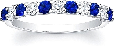 Sapphire and Diamond Wedding Band TFLUAW150 5D6S
