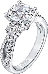 Scott Kay 1.06ct Split Shank Pave Engagement Ring for a larger center diamond