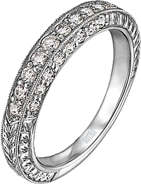 Scott Kay 3 Sides of Pave-Set Diamond Wedding Band