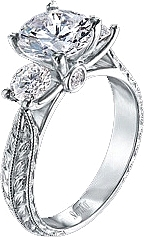 Scott Kay .40ct Vintage Style Signature Crown Engagement Ring