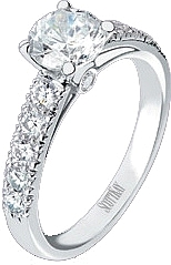 Scott Kay .63ct Pave Diamond Engagement Ring