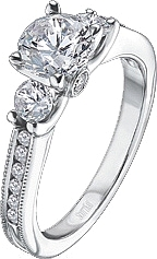 Scott Kay .64ct Migrain Channel Engagement Ring with Signature Crown