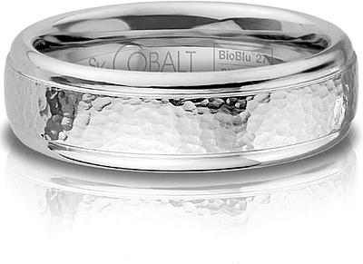 scott kay cobalt gents wedding band 7mm c3029h - Cobalt Wedding Rings