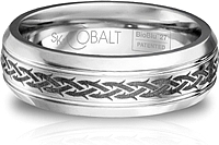 Scott Kay Cobalt Gents Wedding Band -7MM