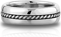 Scott Kay Cobalt Gents Wedding Band -7MM  Note: This ring is also available in 9MM width