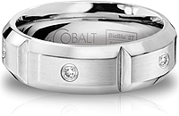 Scott Kay Cobalt Gents Wedding Band With Diamonds -7.0MM