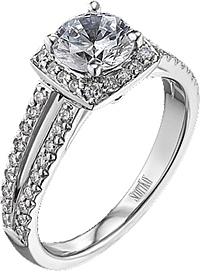 Scott Kay Contemporary Collection Pave Diamond Engagement Ring