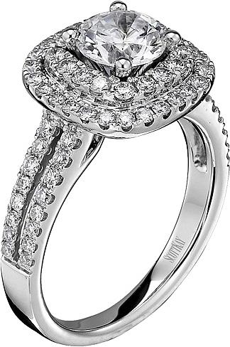 Scott Kay Double Halo Diamond Engagement Ring SK M1618R310